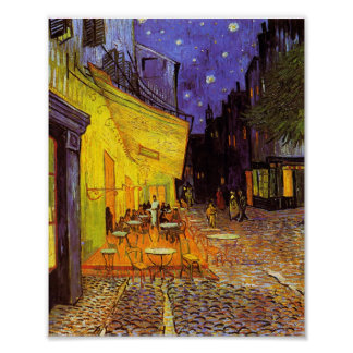 Vincent Van Gogh Cafe Terrace At Night Fine Art Poster