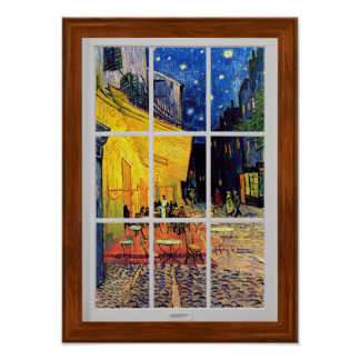 Vincent Van Gogh - Cafe Terrace At Night Fine Art Poster