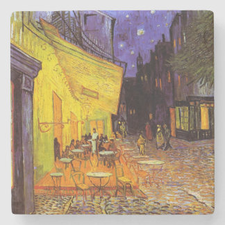 Vincent Van Gogh Cafe Terrace At Night Fine Art Stone Coaster