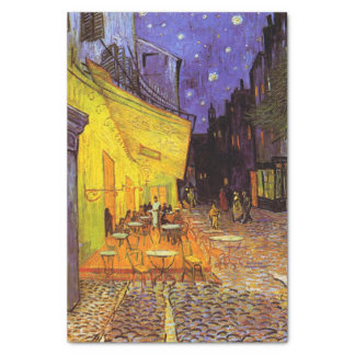 Vincent Van Gogh Cafe Terrace At Night Fine Art Tissue Paper