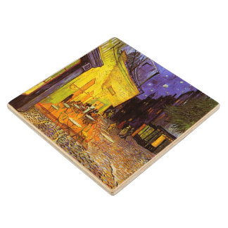 Vincent Van Gogh Cafe Terrace At Night Fine Art Wood Coaster