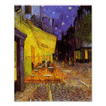 Vincent Van Gogh Cafe Terrace At Night Painting Poster
