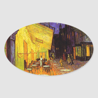 Vincent Van Gogh Cafe Terrace At Night Painting Sticker