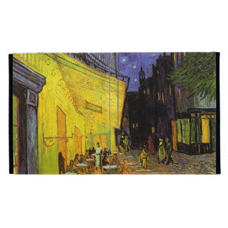 Vincent Van Gogh Cafe Terrace At Night Vintage Art iPad Folio Cover