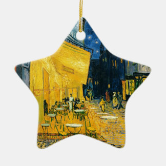 Vincent van Gogh | Cafe Terrace, Place du Forum Ceramic Star Decoration