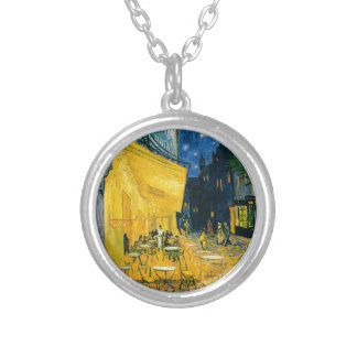 Vincent van Gogh | Cafe Terrace, Place du Forum Silver Plated Necklace