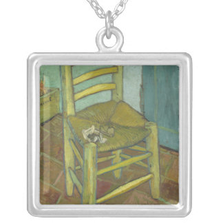 Vincent Van Gogh - Chair with Bandage Silver Plated Necklace