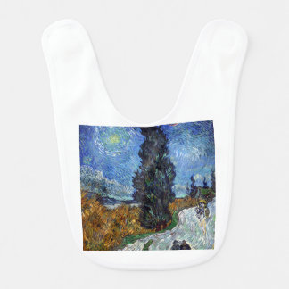 Vincent Van Gogh Country road in Provence by Night Bib