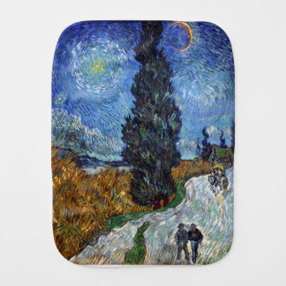 Vincent Van Gogh Country road in Provence by Night Burp Cloth