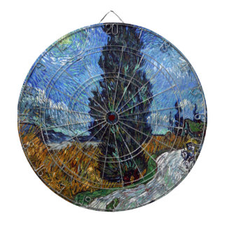 Vincent Van Gogh Country road in Provence by Night Dartboard