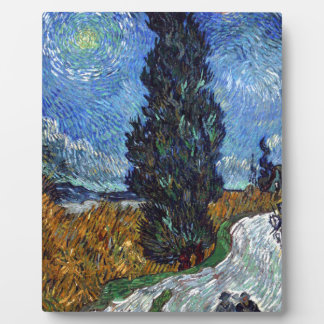 Vincent Van Gogh Country road in Provence by Night Display Plaques