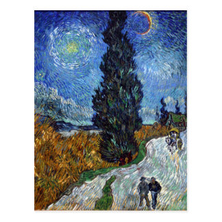 Vincent Van Gogh Country road in Provence by Night Postcard