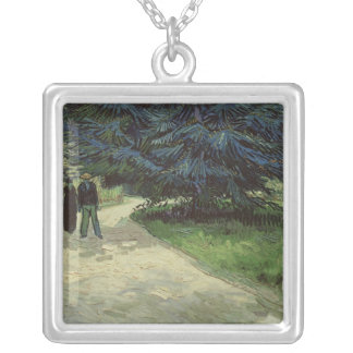 Vincent van Gogh | Couple in the Park, Arles, 1888 Silver Plated Necklace