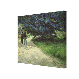 Vincent van Gogh | Couple in the Park, Arles, 1888 Stretched Canvas Print