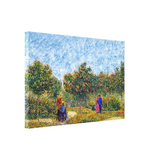 Vincent Van Gogh - Courting Couples In The Park Canvas Print