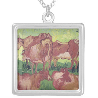 Vincent van Gogh | Cows, 1890 Silver Plated Necklace