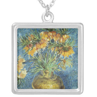 Vincent van Gogh   Crown Imperial Fritillaries Silver Plated Necklace