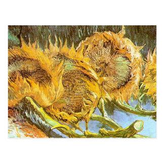 Vincent Van Gogh - Cut Sunflowes GC Postcard