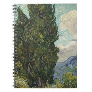 Vincent Van Gogh - Cypresses Painting Spiral Notebook