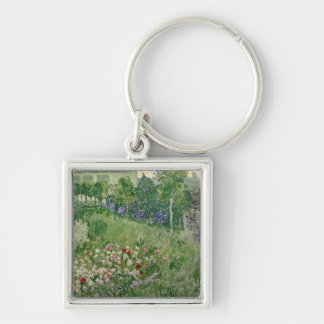 Vincent van Gogh | Daubigny's garden, 1890 Silver-Colored Square Key Ring