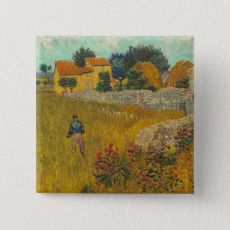 Vincent van Gogh | Farmhouse in Provence, 1888 15 Cm Square Badge