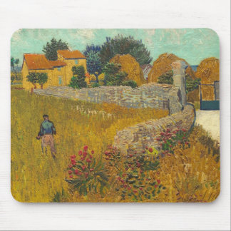 Vincent van Gogh | Farmhouse in Provence, 1888 Mouse Mat