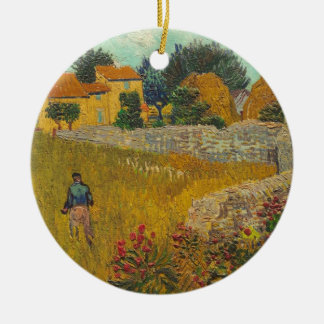 Vincent van Gogh | Farmhouse in Provence, 1888 Round Ceramic Decoration