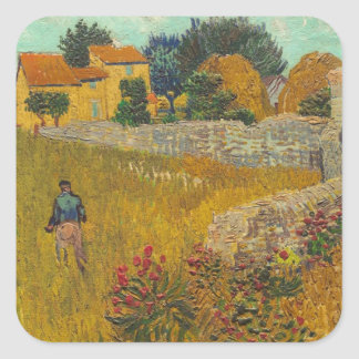Vincent van Gogh | Farmhouse in Provence, 1888 Square Sticker