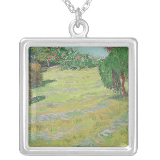 Vincent van Gogh | Field in Sunlight, 1888 Silver Plated Necklace