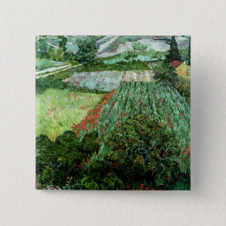 Vincent van Gogh | Field with Poppies, 1889 15 Cm Square Badge