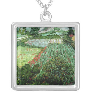 Vincent van Gogh | Field with Poppies, 1889 Silver Plated Necklace