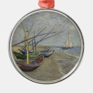 Vincent Van Gogh - Fishing Boats on Saintes Maries Christmas Ornament