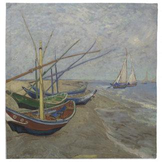 Vincent Van Gogh - Fishing Boats on Saintes Maries Napkin