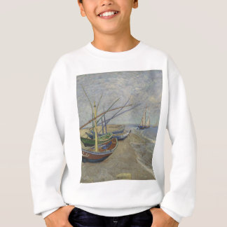 Vincent Van Gogh - Fishing Boats on Saintes Maries Sweatshirt