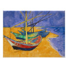 Vincent van Gogh   Fishing Boats on the Beach Poster