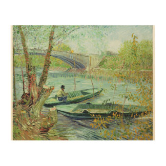 Vincent van Gogh | Fishing in the Spring Wood Print