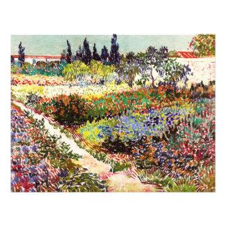 "Vincent Van Gogh Flowering Garden Floral Fine Art 8.5"" X 11"" Flyer"