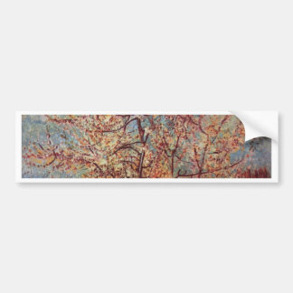 Vincent Van Gogh - Flowering Orchards Painting Bumper Sticker