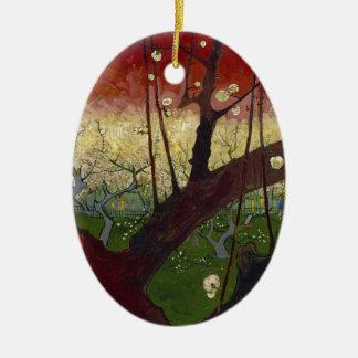 Vincent Van Gogh Flowering Plum Tree Art work Christmas Ornament