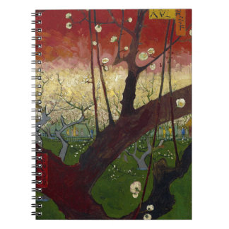 Vincent Van Gogh Flowering Plum Tree Art work Note Book