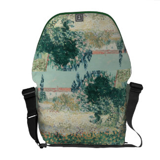 Vincent van Gogh | Garden in Bloom, Arles, 1888 Messenger Bag