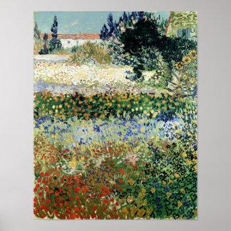 Vincent van Gogh   Garden in Bloom, Arles, 1888 Poster