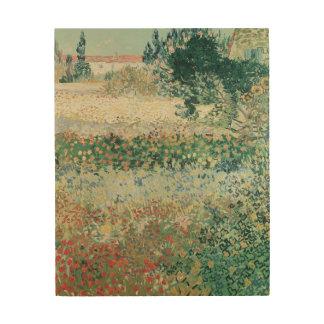 Vincent van Gogh   Garden in Bloom, Arles, 1888 Wood Print