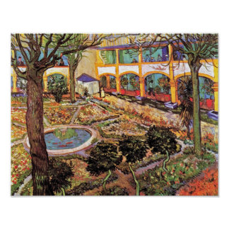 Vincent Van Gogh - Garden Of The Hospital In Arles Poster