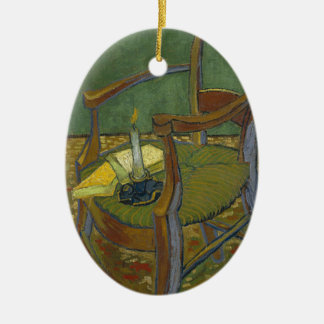 Vincent Van Gogh - Gauguin's Armchair painting Ceramic Oval Decoration