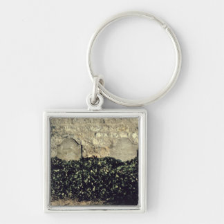 Vincent van Gogh   Graves, Vincent, Theo van Gogh Silver-Colored Square Key Ring