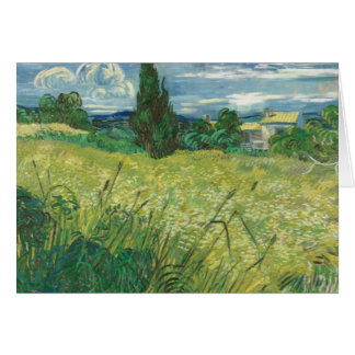 Vincent van Gogh - Green Field Card