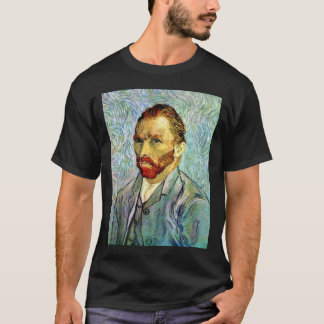 Vincent Van Gogh - Green Self-Portrait Fine Art T-Shirt