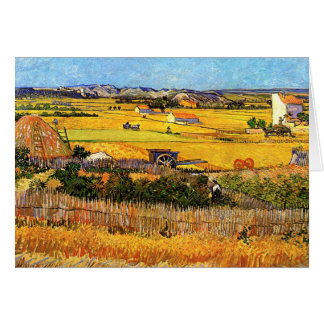 Vincent Van Gogh - Harvest at La Crau Fine Art Card