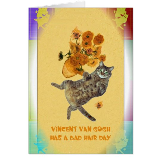 Vincent Van Gogh has a Bad Hair Day Card